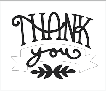 Download Free SVG File - 05.14.16 - Thank You Card   SVGCuts.com Blog