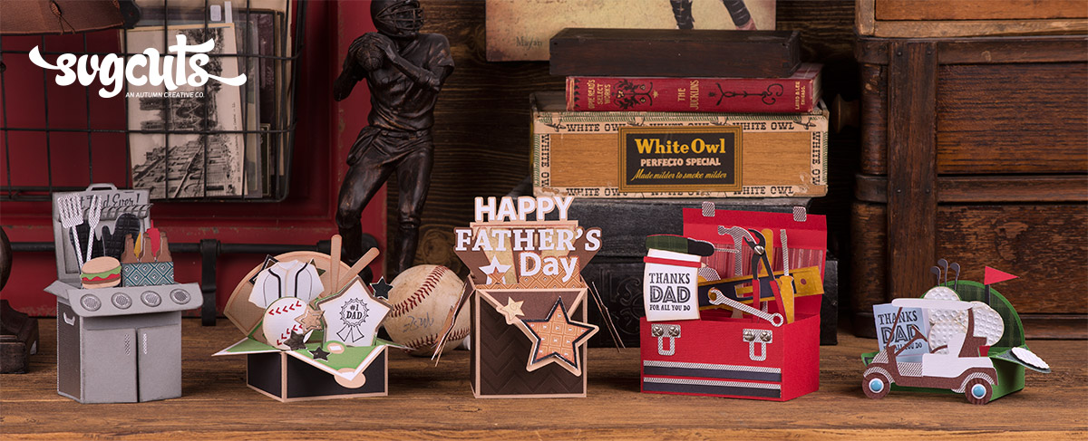 Father's Day Box Cards SVG Kit 6 99 SVG Files For