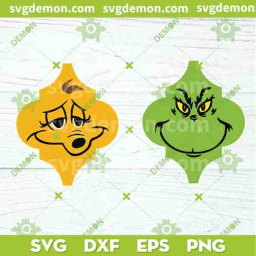 The Grinch Max Tile Ornaments SVG