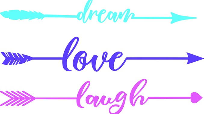 Free SVG Word Arrows Love Laugh Dream | Free SVG Files & More