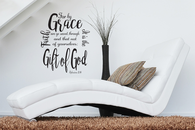 For By Grace Are Ye Saved Through Faith Wall Art SVG Cut File