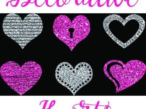 Free SVG Cut File Hearts