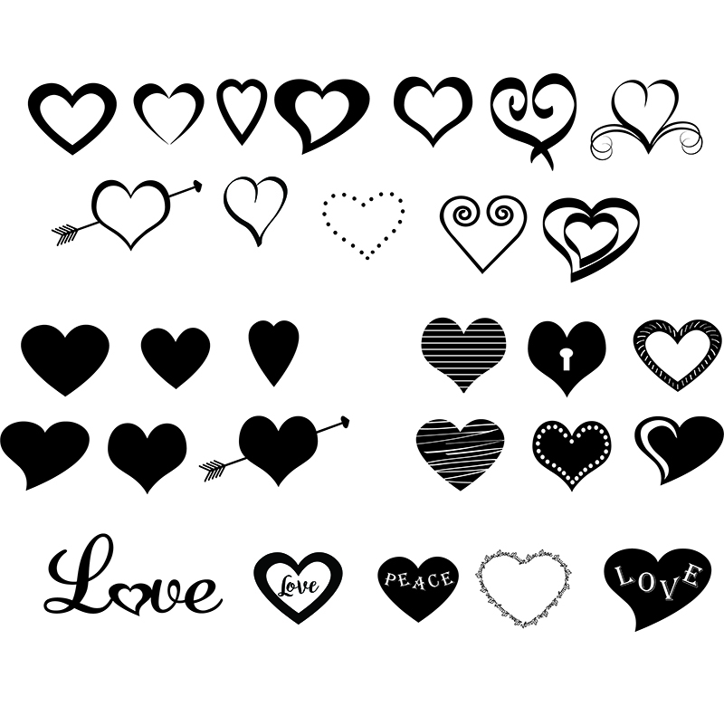 free svg files with hearts
