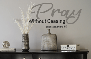 Pray Without Ceasing Free SVG File