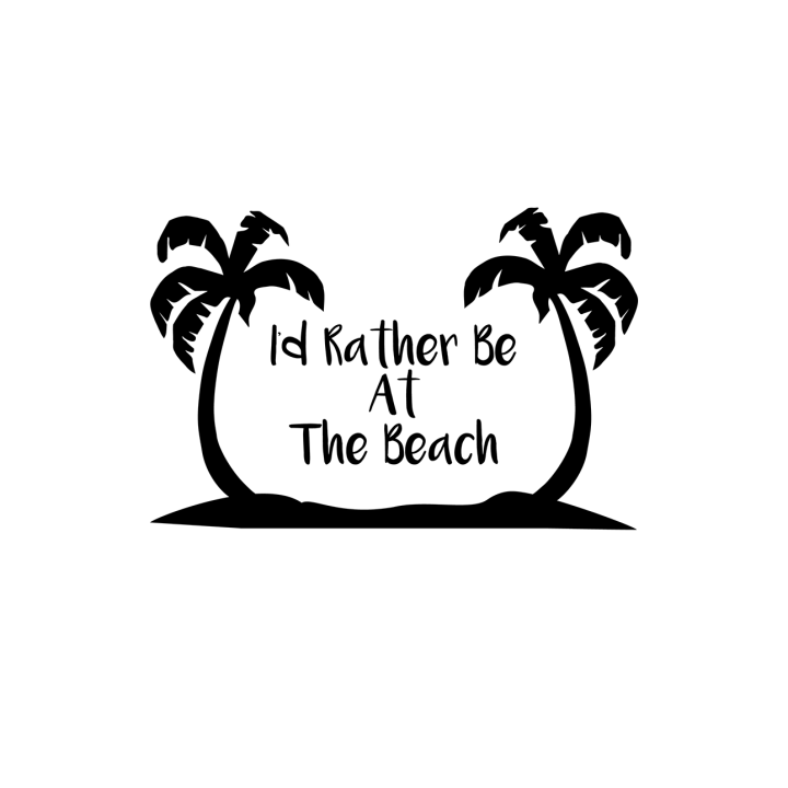 I'd rather be at the beach free svg file