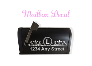 Decorative mailbox decal free svg