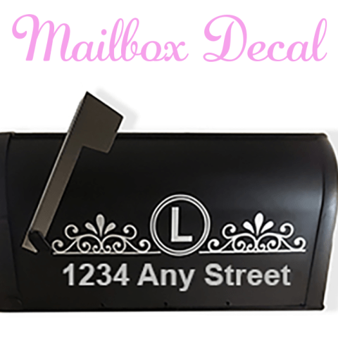 Free SVG File Mailbox Decal