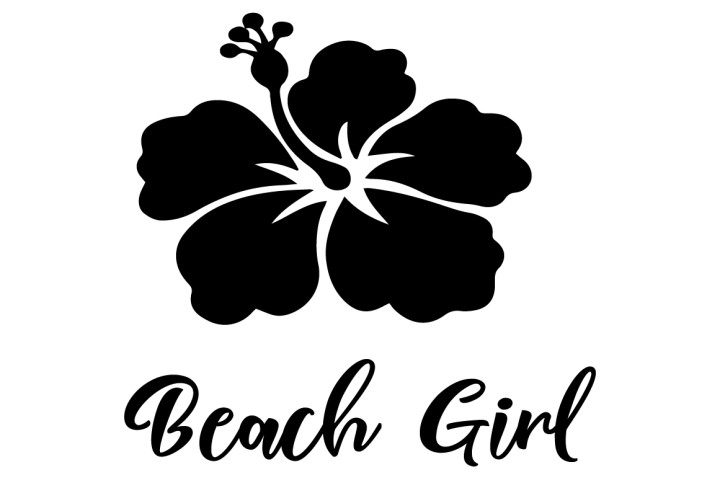 beach girl free svg file