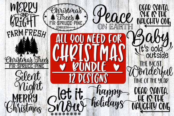 Free Svg Cut Files All You Need For Christmas Bundle
