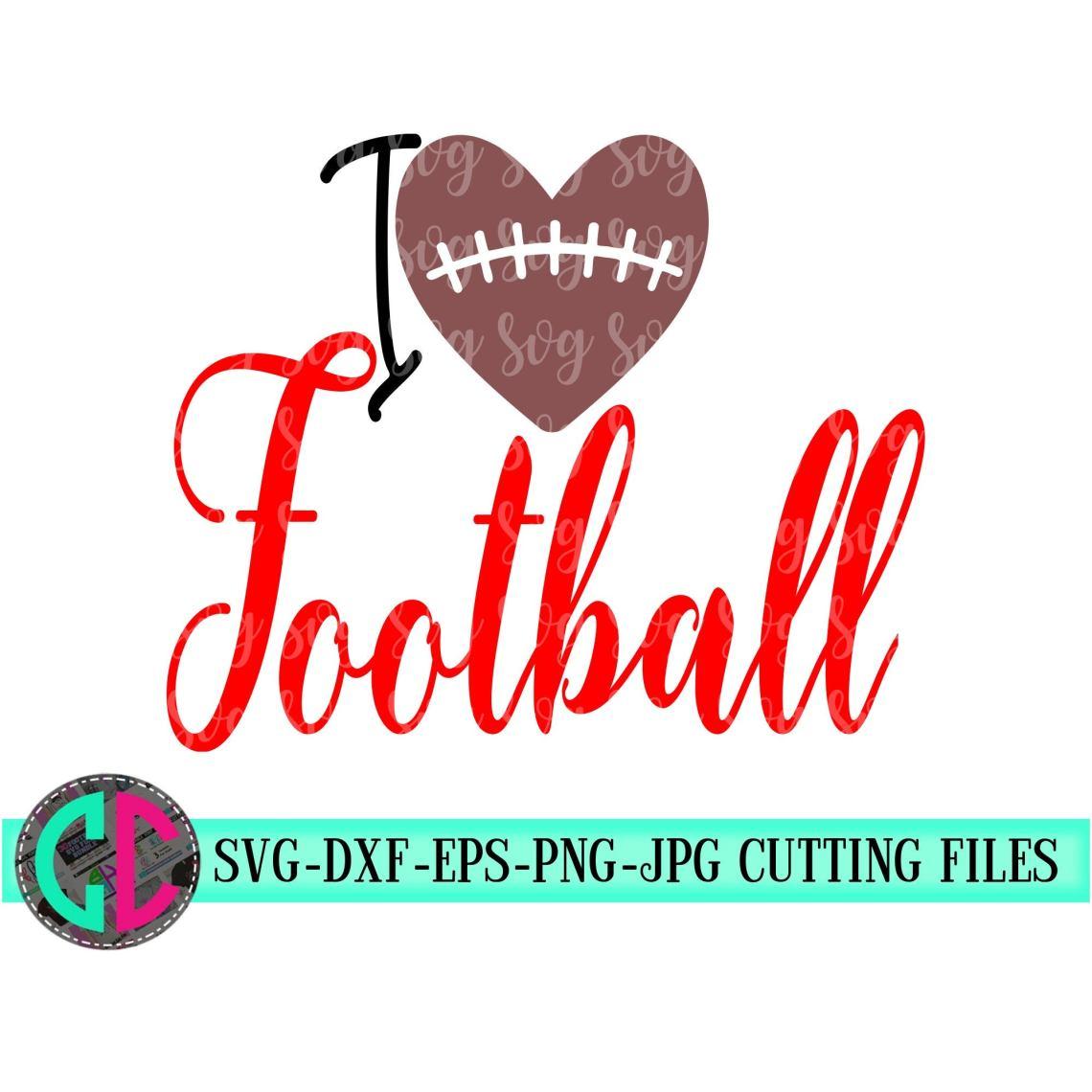 Download I love football svg, love svg football cut files,Football ...