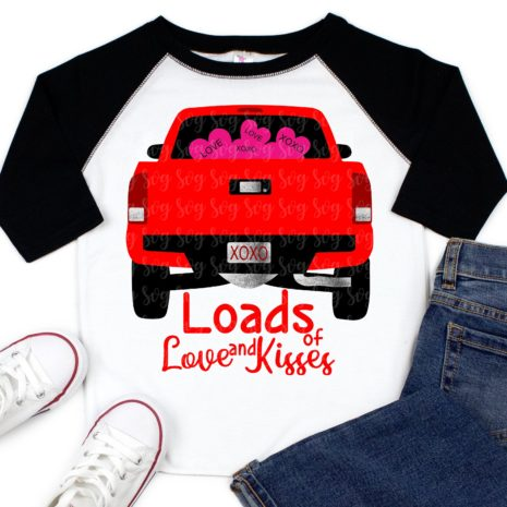 Download little red truck, loads of love truck svg, eps, dxf,Files ...