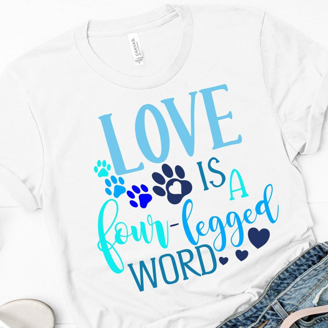 Download Love Is A Four Legged Word,Puppy svg,Svg Paws,Love Is A ...