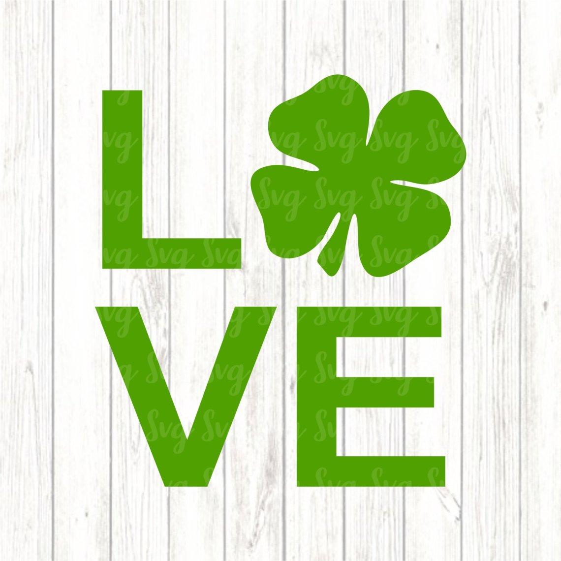 Download Love svg,Love Shamrock svg,Shamrock svg,St.Patrick's Day ...