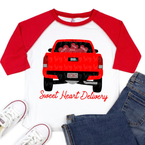 Download red truck svg, loads of love truck svg, eps,dxf,little red ...