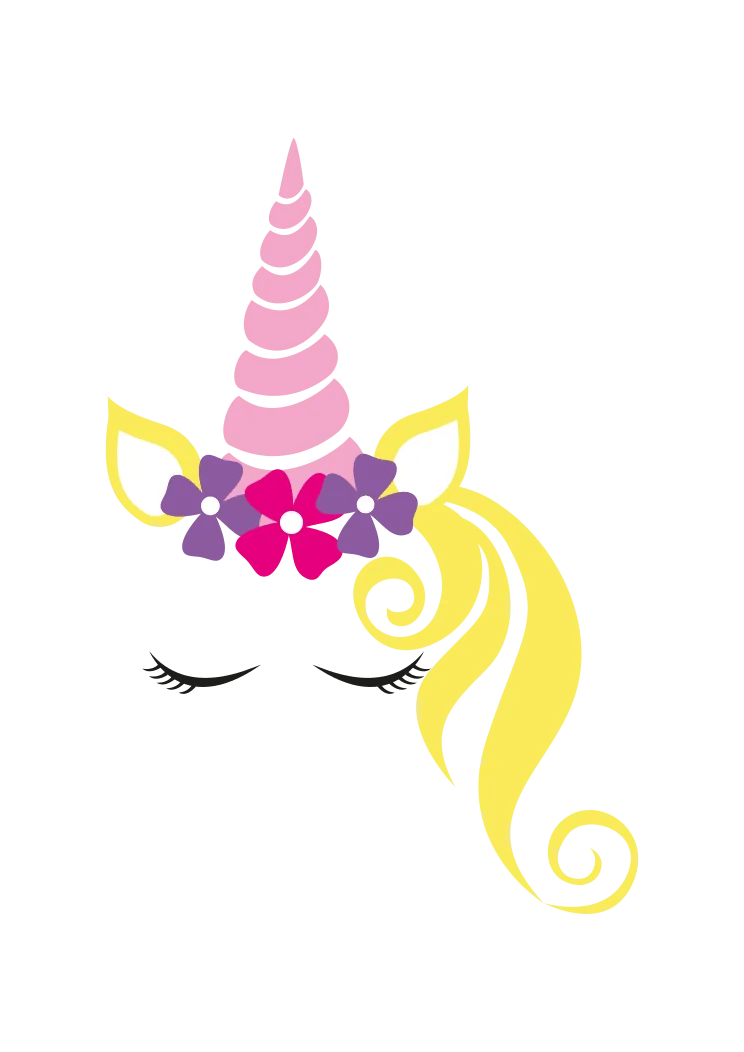 Unicorn Head Svg Free : unicorn, Dreamy, Sleeping, Unicorn, SvgHeart.com