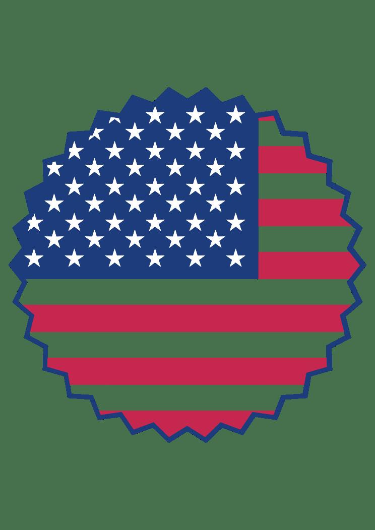 Download USA Flag Stamp Clipart Free SVG File - SvgHeart.com