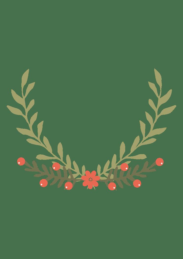 Half wreath svg   Etsy
