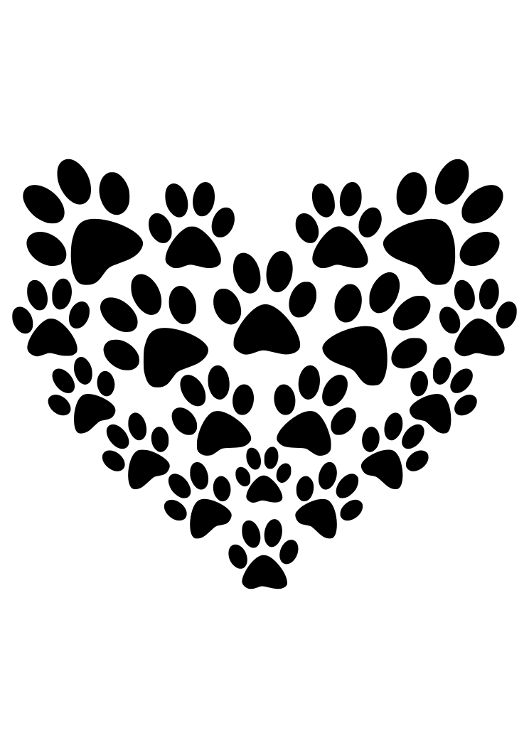 Dog Paw Svg Free : Prints, Heart, Shape, SvgHeart.com