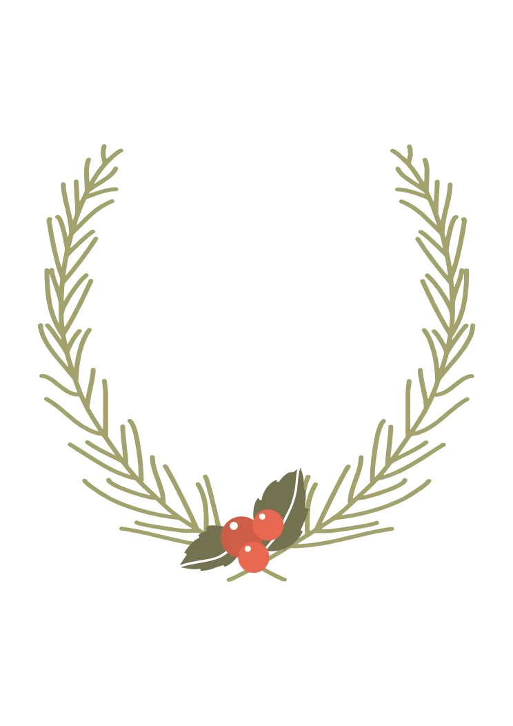 Half Wreath Svg Free : wreath, Floral, Wreath, Berries, Clipart, SvgHeart.com