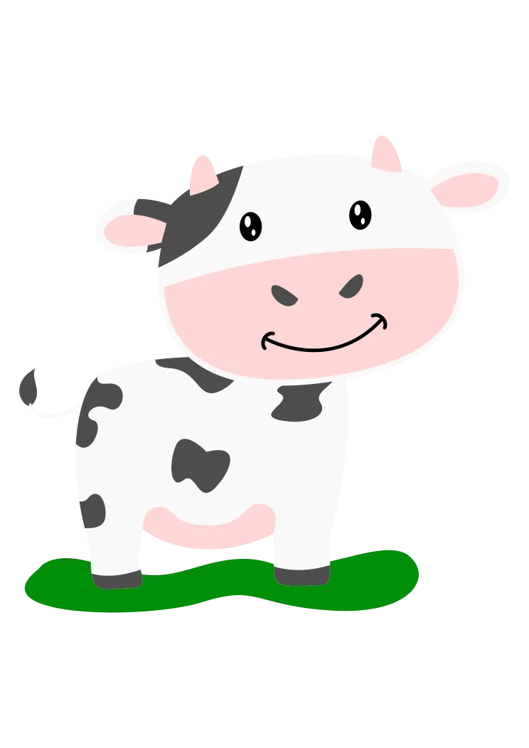 Cute Cow Svg : Adorable, Clipart, SvgHeart.com