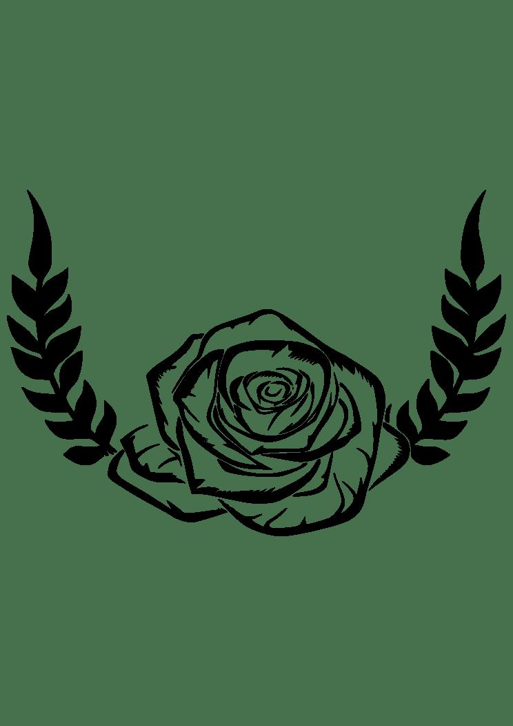 Free Laurel Wreath Svg : laurel, wreath, Laurel, Wreath, Bloom, Black, White, Clipart, SvgHeart.com
