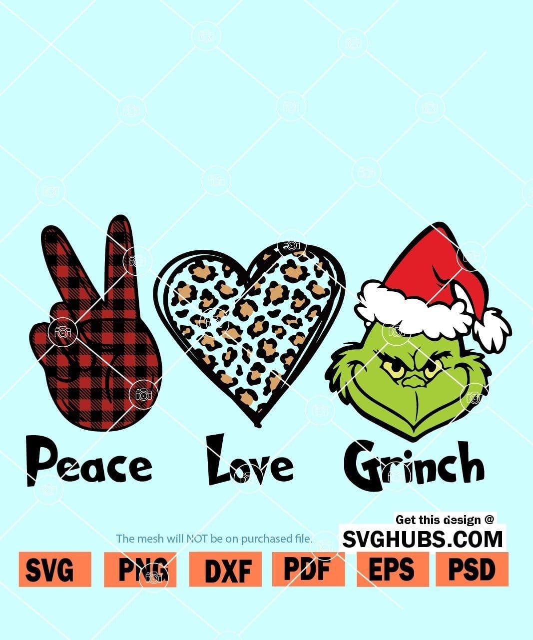 Grinch Svg Free : grinch, Peace, Grinch, Christmas