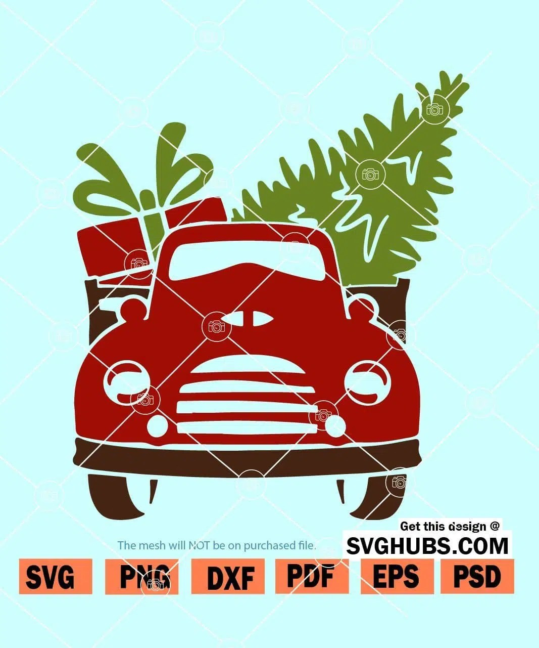 Christmas Truck Svg Free : christmas, truck, Christmas, Truck, Front