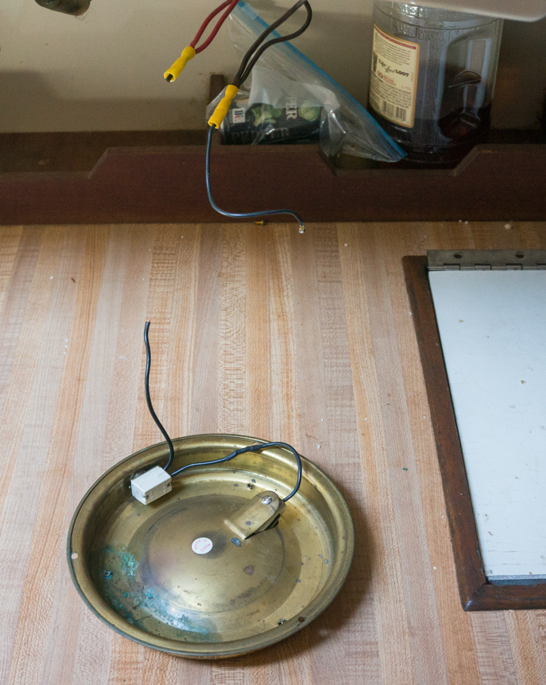 medium resolution of i turned off the 12 volt power removed the light fixture from the ceiling clipped the old wires and removed the broken socket