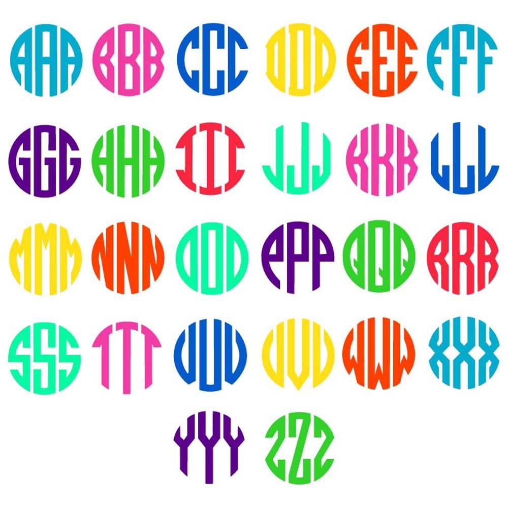 Download Circle Monogram Alphabet SVG DXF EPS | SVGmonograms