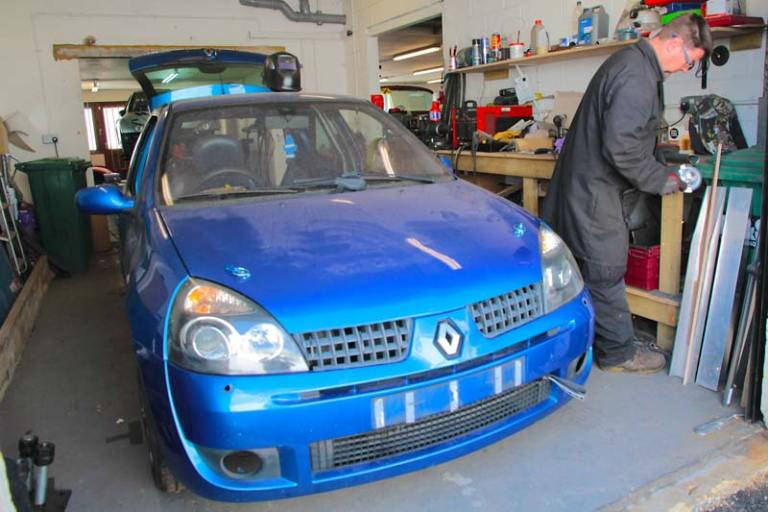 Renault Clio for Race Car Preparation