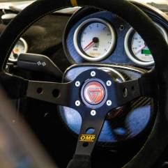 Ginetta race car steering wheel and dials