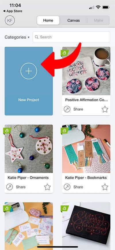 create_new_project_cricut_design_space