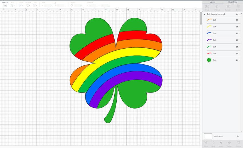 Rainbow Shamrock SVG