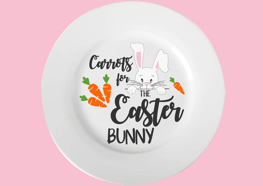 Carrots for the Easter Bunny Plate SVG