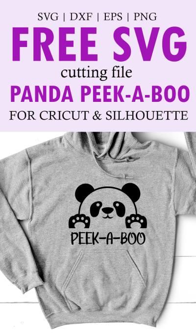 Panda Peek A Boo SVG File