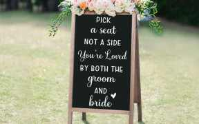 Pick A Seat Not a Side Wedding Sign SVG