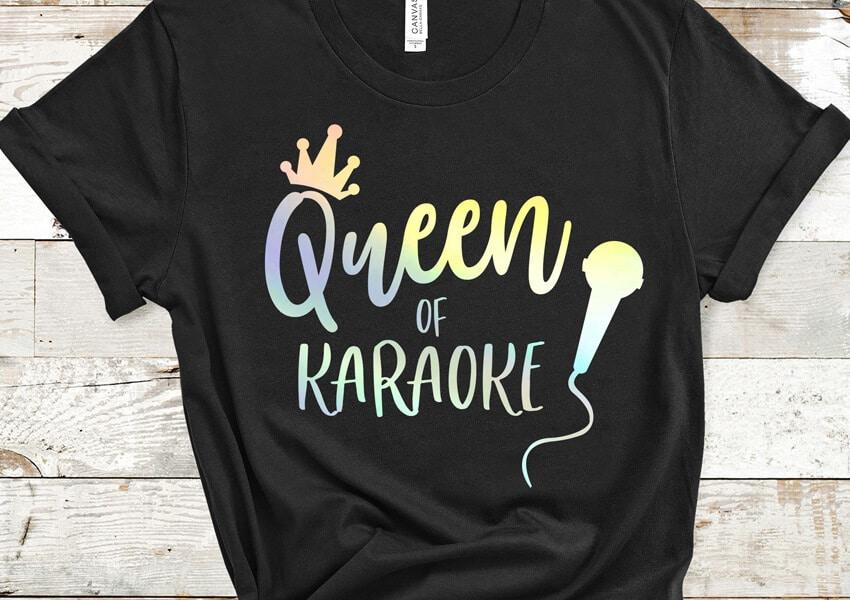 Queen of Karaoke SVG File