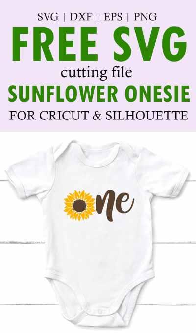 Sunflower Onesie SVG Cut File