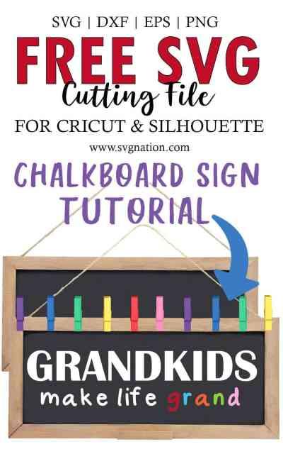 Grandkids Make Life Grand SVG Cut File