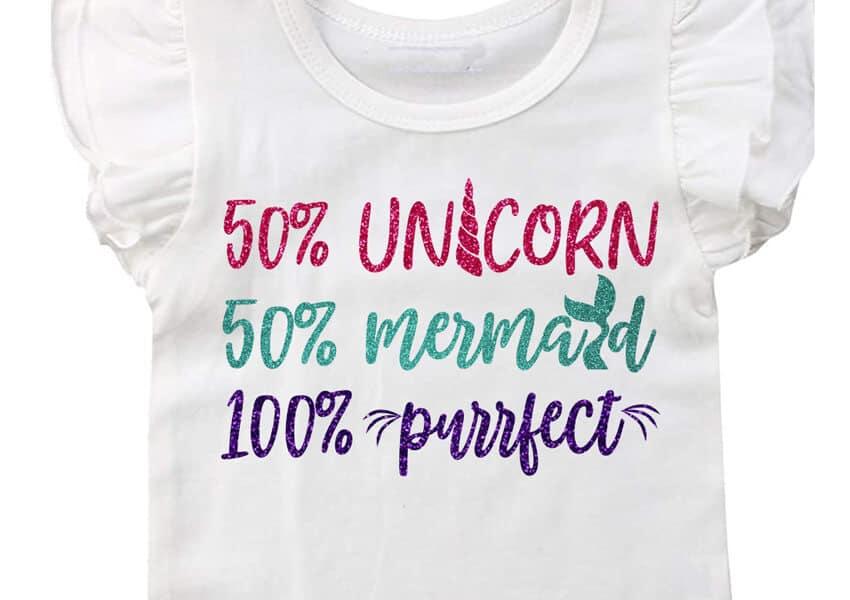 Unicorn, Mermaid, Purrfect SVG File