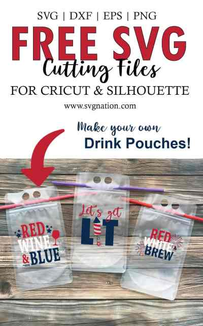4th of July Drink Pouches