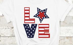 Love 4th of july svg shirt