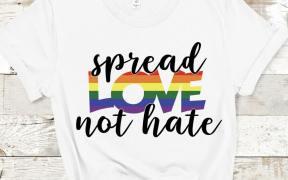 spead love not hate pride shirt