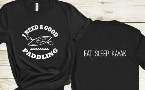 Eat Sleep Kayak SVG