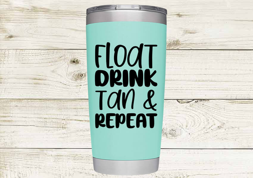 Float Drink Tan and Repeat SVG