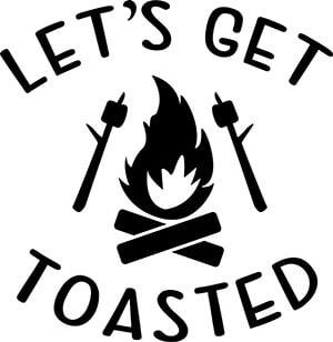 Let's Get Toasted SVG Download