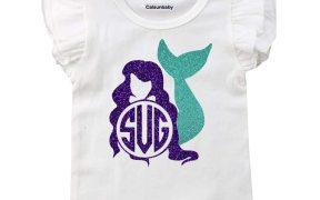 Mermaid Monogram SVG Download