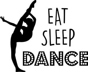 Eat Sleep Dance SVG