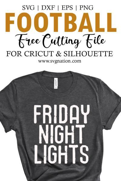 Friday Night Lights SVG Free Cut File