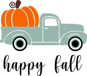 Happy Fall Free SVG File